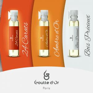 3 échantillons de parfum de 1ml au choix