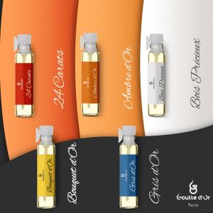 5 échantillons de parfum de 1ml au choix