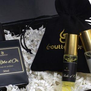 1 parfum 50ml + 2 parfums 5ml